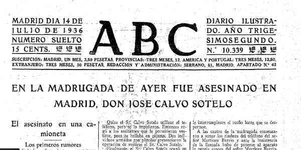 Resultado de imagen de fotografías del asesinato de José Calvo Sotelo