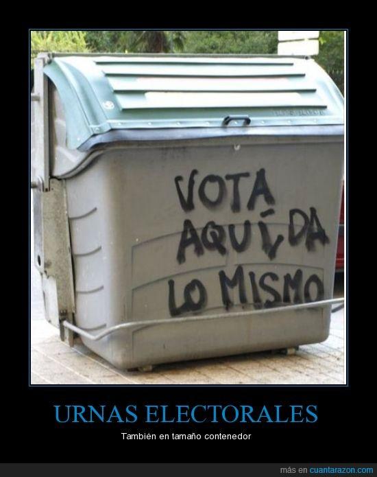 Resultado de imagen de fotografías de papelera-urna para votación