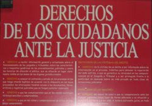 Resultado de imagen de fotos de la Carta de los ciudadanos ante la justicia